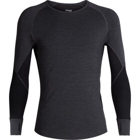 Icebreaker 260 Zone Longsleeve Crew Shirt Heren, jet heather/black